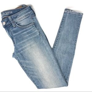 AEO Long Distressed Jegging Skinny Jeans
